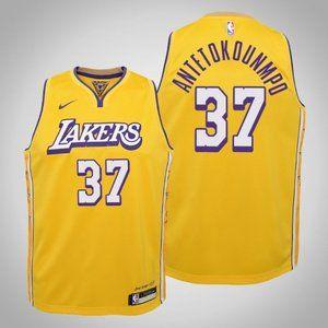 Women Lakers #37 Kostas Antetokounmpo Jersey